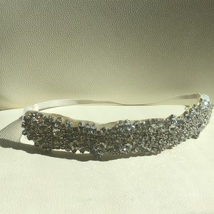 Cubic Zirconia Jeweled Wedding & bach headband